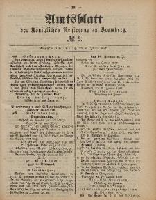 Amtsblatt der Königlichen Preußischen Regierung zu Bromberg, 21. Januar 1887, Nr. 3
