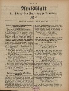 Amtsblatt der Königlichen Preußischen Regierung zu Bromberg, 28. Januar 1887, Nr. 4