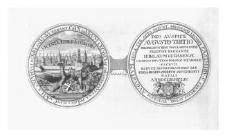 Medal wybity przez Gdańszczan na cześć króla Augusta III