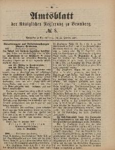 Amtsblatt der Königlichen Preußischen Regierung zu Bromberg, 25. Februar 1887, Nr. 8
