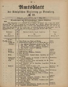 Amtsblatt der Königlichen Preußischen Regierung zu Bromberg, 11. März 1887, Nr. 10