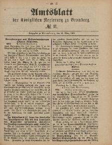 Amtsblatt der Königlichen Preußischen Regierung zu Bromberg, 18. März 1887, Nr. 11