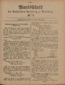 Amtsblatt der Königlichen Preußischen Regierung zu Bromberg, 8. April 1887, Nr. 14