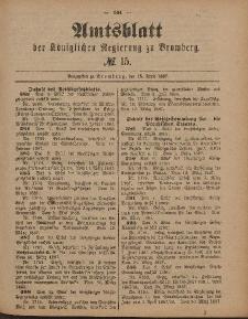 Amtsblatt der Königlichen Preußischen Regierung zu Bromberg, 15. April 1887, Nr. 15