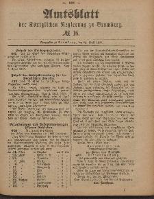 Amtsblatt der Königlichen Preußischen Regierung zu Bromberg, 22. April 1887, Nr. 16