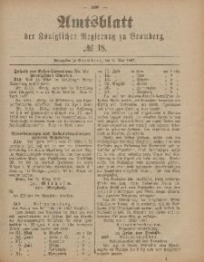 Amtsblatt der Königlichen Preußischen Regierung zu Bromberg, 6. Mai 1887, Nr. 18