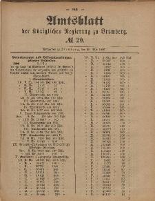 Amtsblatt der Königlichen Preußischen Regierung zu Bromberg, 20. Mai 1887, Nr. 20