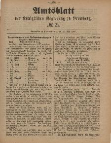 Amtsblatt der Königlichen Preußischen Regierung zu Bromberg, 27. Mai 1887, Nr. 21