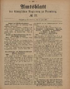 Amtsblatt der Königlichen Preußischen Regierung zu Bromberg, 10. Juni 1887, Nr. 23
