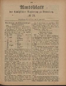 Amtsblatt der Königlichen Preußischen Regierung zu Bromberg, 17. Juni 1887, Nr. 24