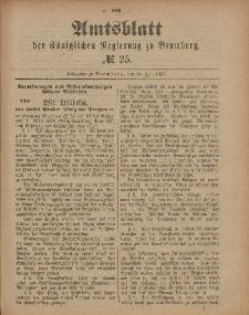 Amtsblatt der Königlichen Preußischen Regierung zu Bromberg, 24. Juni 1887, Nr. 25
