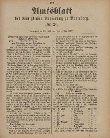 Amtsblatt der Königlichen Preußischen Regierung zu Bromberg, 1. Juli 1887, Nr. 26