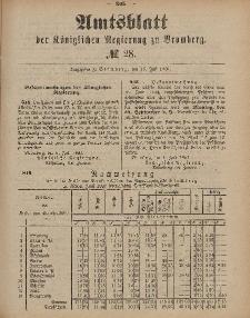 Amtsblatt der Königlichen Preußischen Regierung zu Bromberg, 15. Juli 1887, Nr. 28