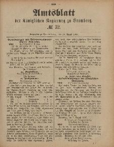 Amtsblatt der Königlichen Preußischen Regierung zu Bromberg, 12. August 1887, Nr. 32