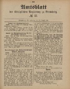 Amtsblatt der Königlichen Preußischen Regierung zu Bromberg, 19. August 1887, Nr. 33