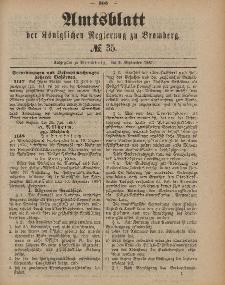 Amtsblatt der Königlichen Preußischen Regierung zu Bromberg, 2. September 1887, Nr. 35
