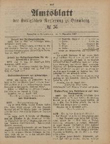 Amtsblatt der Königlichen Preußischen Regierung zu Bromberg, 9. September 1887, Nr. 36