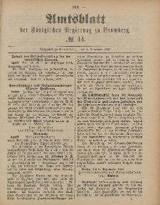 Amtsblatt der Königlichen Preußischen Regierung zu Bromberg, 4. November 1887, Nr. 44
