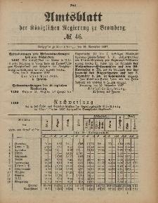 Amtsblatt der Königlichen Preußischen Regierung zu Bromberg, 18. November 1887, Nr. 46
