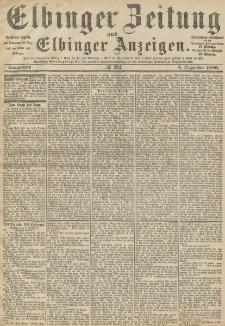 Elbinger Zeitung und Elbinger Anzeigen, Nr. 284 Sonnabend 4. Dezember 1886