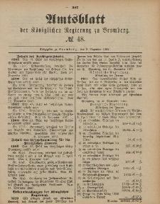 Amtsblatt der Königlichen Preußischen Regierung zu Bromberg, 2. Dezember 1887, Nr. 48