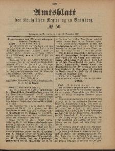 Amtsblatt der Königlichen Preußischen Regierung zu Bromberg, 16. Dezember 1887, Nr. 50