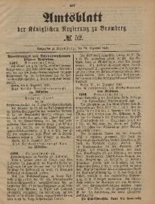 Amtsblatt der Königlichen Preußischen Regierung zu Bromberg, 30. Dezember 1887, Nr. 52