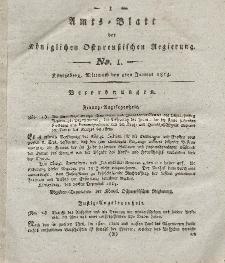 Amts-Blatt der Königlichen Preußischen Regierung zu Königsberg, Mittwoch, 5. Januar 1814, Nr. 1