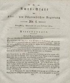 Amts-Blatt der Königlichen Preußischen Regierung zu Königsberg, Mittwoch, 9. Februar 1814, Nr. 6