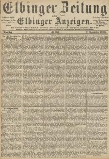 Elbinger Zeitung und Elbinger Anzeigen, Nr. 286 Dienstag 7. Dezember 1886