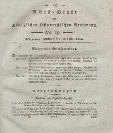 Amts-Blatt der Königlichen Preußischen Regierung zu Königsberg, Mittwoch, 11. Mai 1814, Nr. 19