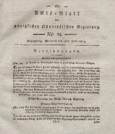 Amts-Blatt der Königlichen Preußischen Regierung zu Königsberg, Mittwoch, 1. Juni 1814, Nr. 22