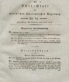 Amts-Blatt der Königlichen Preußischen Regierung zu Königsberg, Mittwoch, 8. Juni 1814, Nr. 23