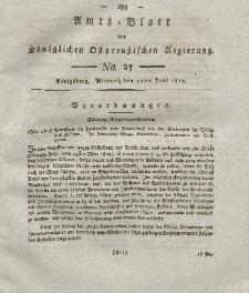 Amts-Blatt der Königlichen Preußischen Regierung zu Königsberg, Mittwoch, 15. Juni 1814, Nr. 25