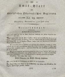 Amts-Blatt der Königlichen Preußischen Regierung zu Königsberg, Mittwoch, 13. Juli 1814, Nr. 29