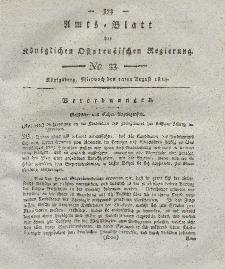 Amts-Blatt der Königlichen Preußischen Regierung zu Königsberg, Mittwoch, 10. August 1814, Nr. 33