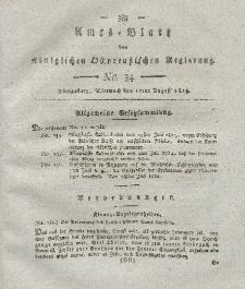 Amts-Blatt der Königlichen Preußischen Regierung zu Königsberg, Mittwoch, 17. August 1814, Nr. 34