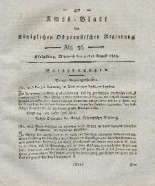 Amts-Blatt der Königlichen Preußischen Regierung zu Königsberg, Mittwoch, 31. August 1814, Nr. 36