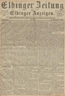 Elbinger Zeitung und Elbinger Anzeigen, Nr. 290 Sonnabend 11. Dezember 1886