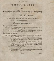 Amts-Blatt der Königlichen Preußischen Regierung zu Königsberg, Mittwoch, 2. September 1818, Nr. 35