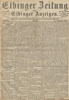 Elbinger Zeitung und Elbinger Anzeigen, Nr. 293 Mittwoch 15. Dezember 1886