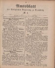 Amtsblatt der Königlichen Preußischen Regierung zu Bromberg, 26. Januar 1883, Nr. 4