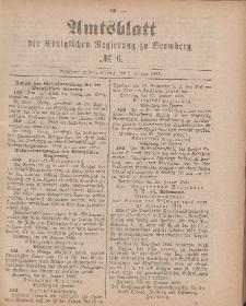 Amtsblatt der Königlichen Preußischen Regierung zu Brombergg, 9. Februar 1883, Nr. 6