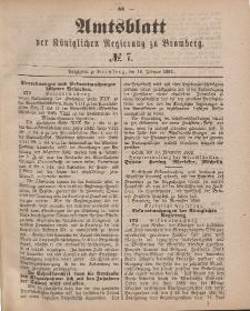 Amtsblatt der Königlichen Preußischen Regierung zu Bromberg, 16. Februar 1883, Nr. 7