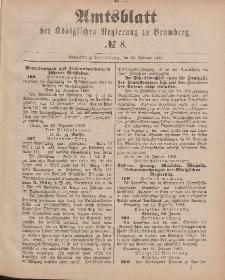 Amtsblatt der Königlichen Preußischen Regierung zu Bromberg, 23. Februar 1883, Nr. 8