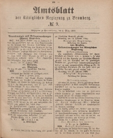 Amtsblatt der Königlichen Preußischen Regierung zu Bromberg, 2. März 1883, Nr. 9