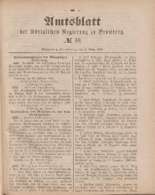 Amtsblatt der Königlichen Preußischen Regierung zu Bromberg, 9. März 1883, Nr. 10