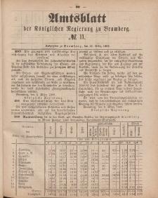 Amtsblatt der Königlichen Preußischen Regierung zu Bromberg, 16. März 1883, Nr. 11