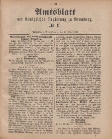 Amtsblatt der Königlichen Preußischen Regierung zu Bromberg, 30. März 1883, Nr. 13