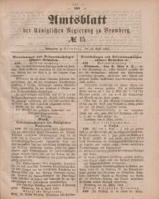 Amtsblatt der Königlichen Preußischen Regierung zu Bromberg, 13. April 1883, Nr. 15